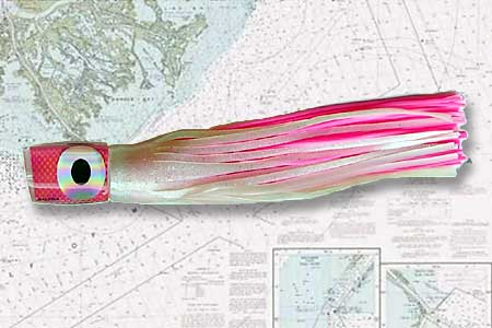 19 is a great flat line or rigger lure.